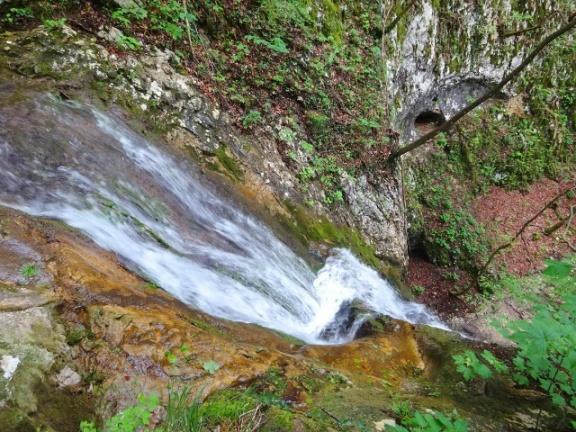 Sentiero Fasoli Cascata di Adamo vista dall'alto