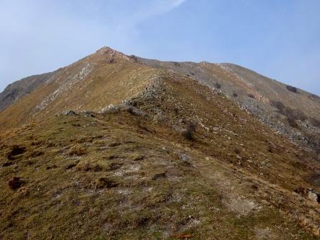 Monte Matanna sentiero per vetta