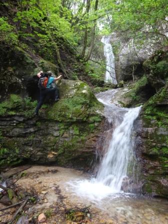 Breonio Sentiero Fasoli Tratto attrezzato verso la cascata di Adamo