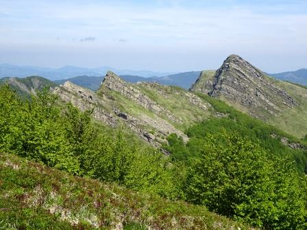Roccabiasca vista salendo a Monte Brusa