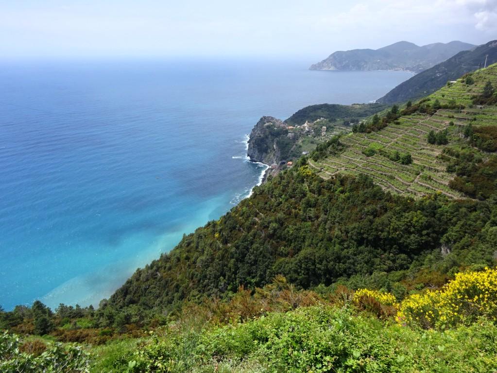 Volastra la costa verso Corniglia e Punta Mesco