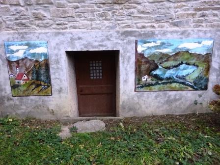sentieri di Ospitale Ca' Pallai dipinti