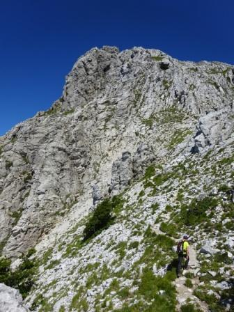Pizzo d'Uccello via normale
