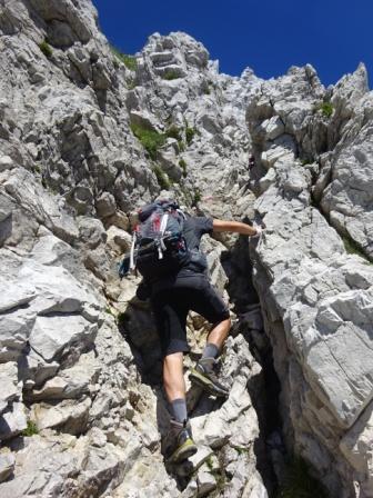 Pizzo d'Uccello via normale arrampicata