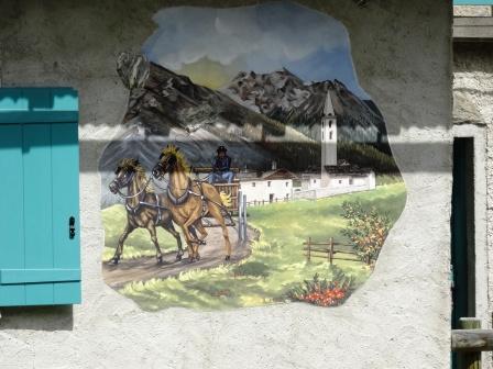 Affresco Valle Pettini Valle Fraele Cancano