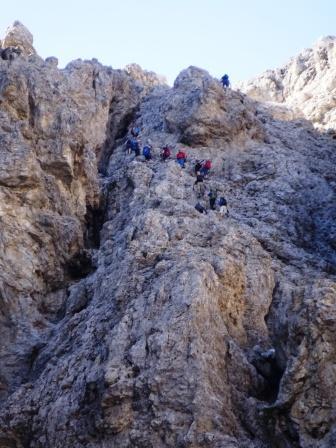 Gruppo del Sella, Val Setus tratto attrezzato