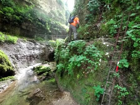 Valsorda Rio Mondrago scalette e ponti