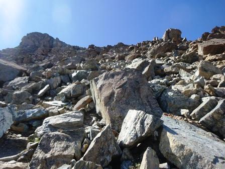 Punta Cristalliera salita