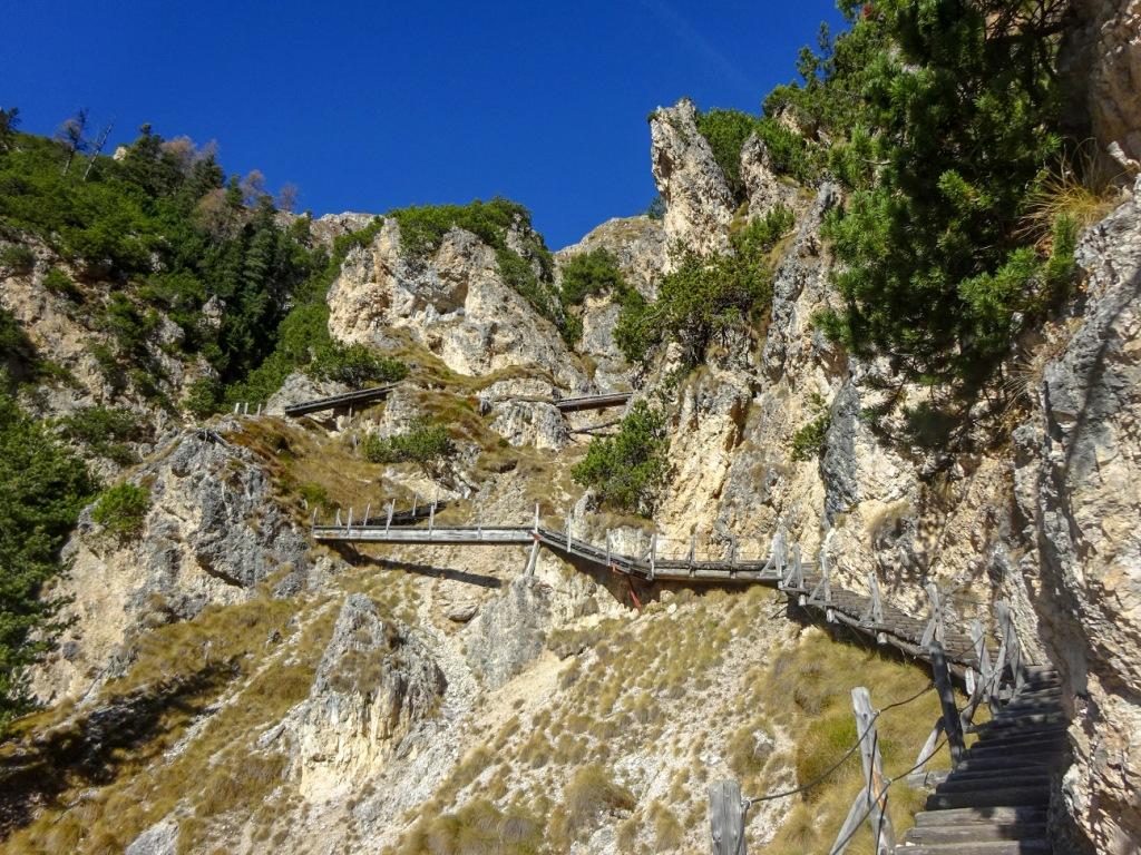 sentieri Sciliar Gola dell'Orsara Barenfalle
