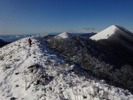 cresta orientale Monte San Primo neve