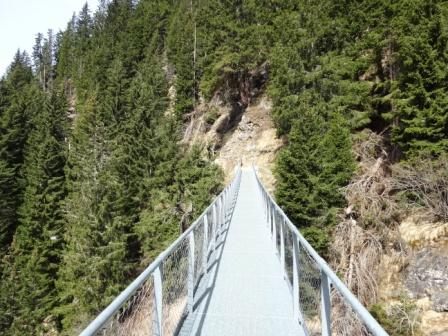 ponte sospeso Alta Via di Merano
