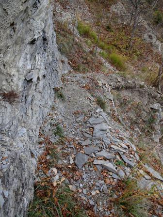sentiero 473 Castellino Scoltenna tratto attrezzato