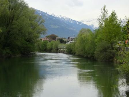 Fiume Adige ciclabile Val Venosta