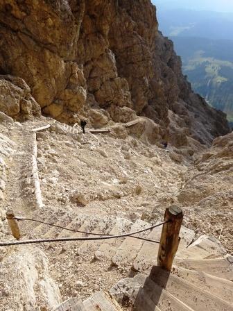 Passo Coronelle Catinaccio sentiero 550